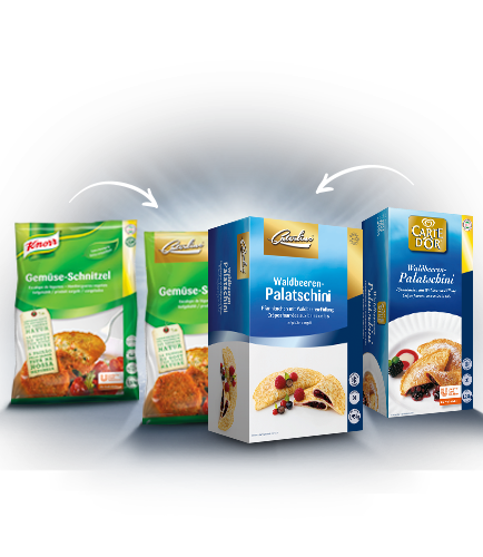 Knorr und Carte d'Or in Caterline Produkten vereint