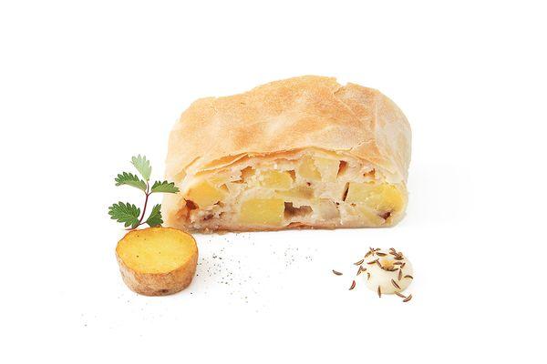 Veganer Kartoffelstrudel tiefgekühlt von Caterline